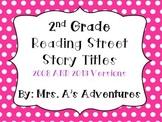 Second Grade Reading Street Story Titles