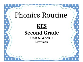 """Second Grade Reading Street- Unit 5, Week 1 """"Fire Fighter"""" Phonics Routine"""