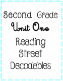 Second Grade Reading Street Unit One Decodables