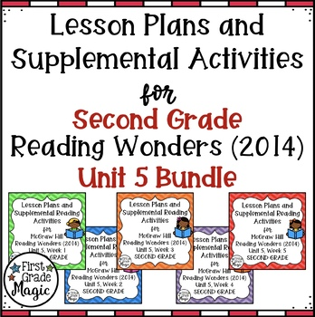 Second Grade Reading Wonders UNIT 5 Bundle