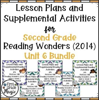 Second Grade Reading Wonders UNIT 6 Bundle