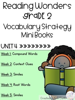 Second Grade Reading Wonders Vocabulary Strategy Mini Book {UNIT 4}