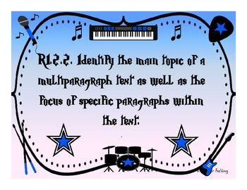 Second Grade Reading and Language Arts Common Core Standards (Rock StarThemed)