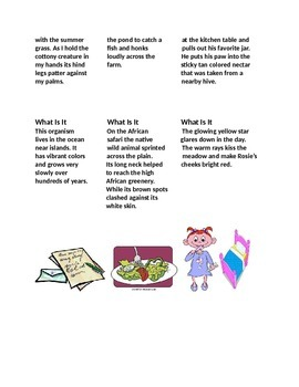 Second Grade Reading and Math Inferences and Money