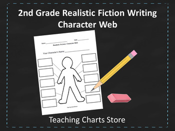 Second Grade Realistic Fiction Writing Character Web