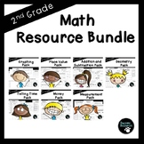 Second Grade Math Resource Bundle (EDITABLE-Over 750 items!!)