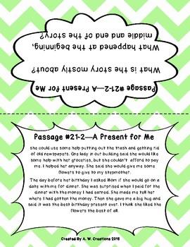 Second Grade Retell Passages Set C (#21-30) DIBELS
