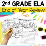 Second Grade Review - Language, Grammar and Writing Practice Worksheets.