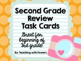 Second Grade Math Review Task Cards (Great for 3rd Grade B