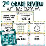 2nd Grade Math Spiral Review   Task Cards Set 3 of 5