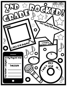Second Grade Rocked End of School Year Booklet