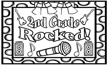 Second Grade Rocked! End of the Year Coloring Page