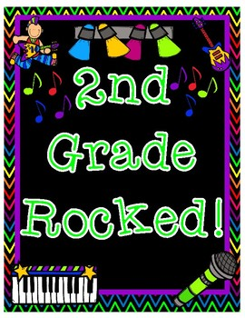 Second Grade Rocked End of Year Pair & Share Printable Poster