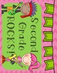Second Grade Rocks Calendar Set: 12 months: Color and B&W: