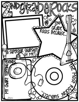 Second Grade Rocks! Poster: A Rockin' Back to School Ice Breaker Activity