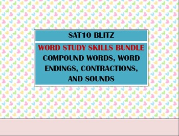 Second Grade SAT10 Prep Word Study BUNDLE - Contractions C