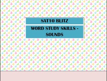 Second Grade SAT10 Test Preparation - Word Study Skills Sounds