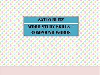 Second Grade SAT10 Test Preparation - Word Study Skills Compound Words