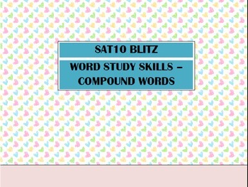 Second Grade SAT10 Test Preparation - Word Study Skills Co