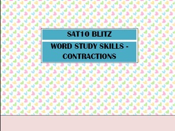 Second Grade SAT10 Test Preparation - Word Study Skills Contractions