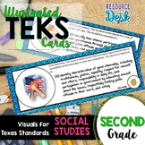 Second Grade SOCIAL STUDIES TEKS - Illustrated and Organized Objectives Cards