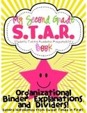 Second Grade S.T.A.R. Book Organizational Binder