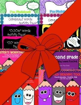 Second Grade SUPER Bundle! ~ Lesson Plans, Phonics Work, Graphic Aids and More!
