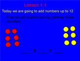 Smart Board Addition Fact Lesson