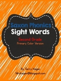 Second Grade Saxon Phonics Sight Words Neon Color Edition