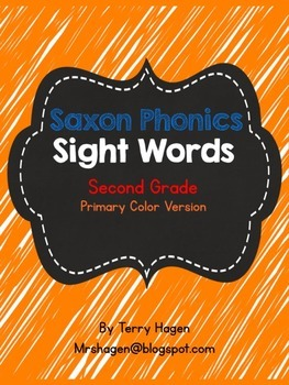 Second Grade Saxon Phonics Sight Words Neon Color Edition