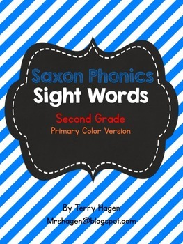 Second Grade Saxon Phonics Sight Words Primary Color Edition