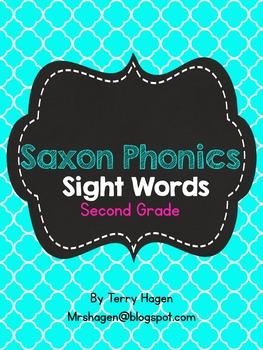 Second Grade Saxon Phonics Sight Words Quatrefoil Edition