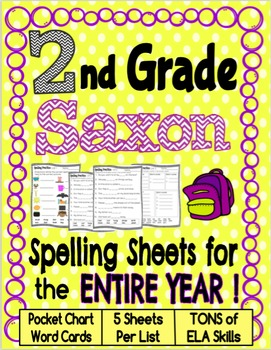 Second Grade Saxon Spelling Worksheets