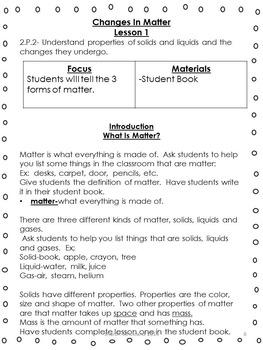 Second Grade Science-Common Core Aligned Matter Unit