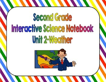 Second Grade Science Interactive Notebook Unit 2 Weather