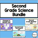 Second Grade Science Bundle {Changes in Motion, Living Things, and Weather}