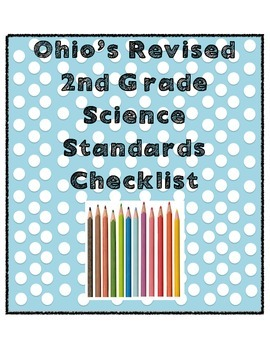 Second Grade Science Ohio Revised Standards Checklist