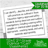 """Second Grade Science TEKS """"I Can"""" Statements 