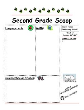 Second Grade Scoop - Classroom Newsletter Templates