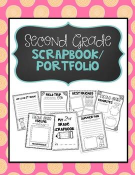 Second Grade Scrapbook Portfolio
