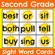 Second Grade Seasonal Sight Word Cards Bundle
