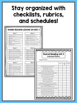 Second Grade Reading Workshop BUNDLE of Shared Reading Lessons