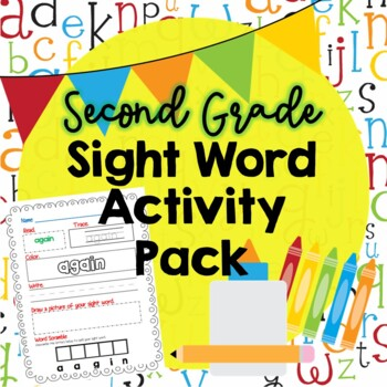 Second Grade Sight Word Activity Pack