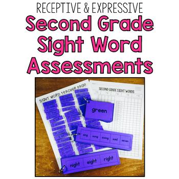 Second Grade Sight Word Assessment: Receptive & Expressive