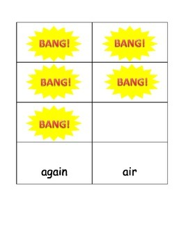 Second Grade Sight Word BANG! game