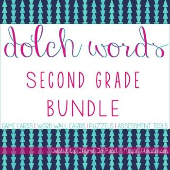 Second Grade Sight Word BUNDLE + 2 FREEBIES