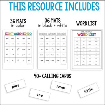 Second Grade Sight Word Bingo