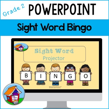 Second Grade Sight Word Bingo with PowerPoint