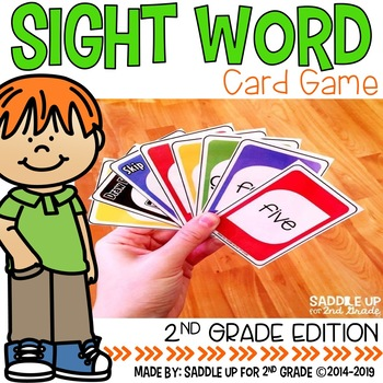 Second Grade Sight Word Card Game