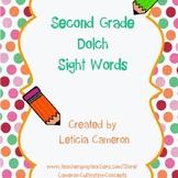 Second Grade Sight Word Cards
